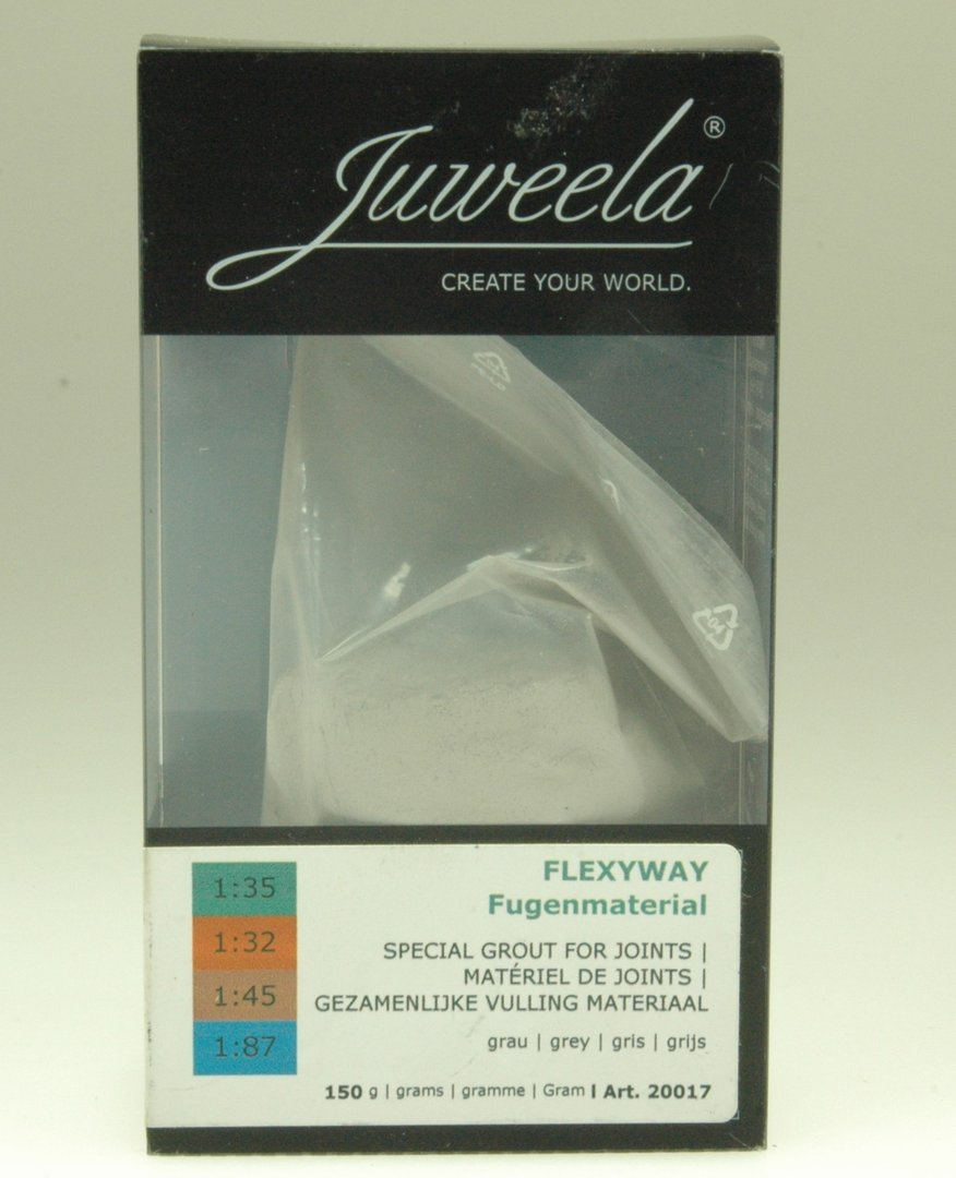 juweela 20017 fugenmaterial für flexway grau (150 g) - te-miniatur