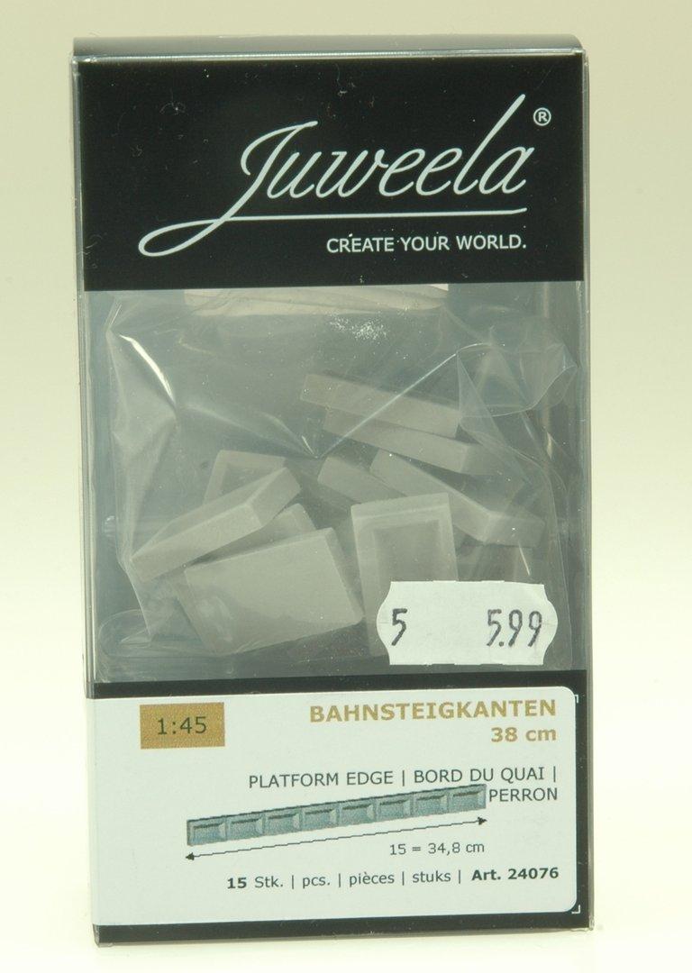 30 Stück Juweela 24077 Spur 0 Bahnsteigkante 38cm ü SO