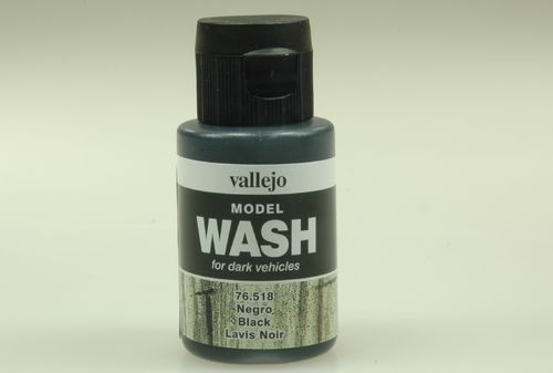 Vallejo 76518 Wash-Colour, Schwarz, 35 ml